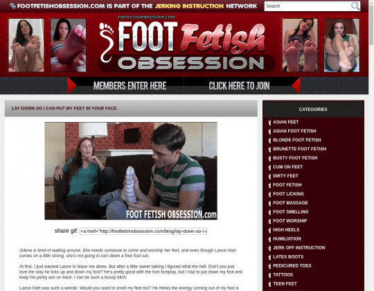 Foot Fetish Obsession